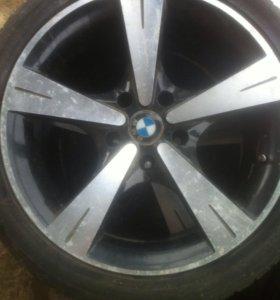 Литые диски BMWс зимней резиной
