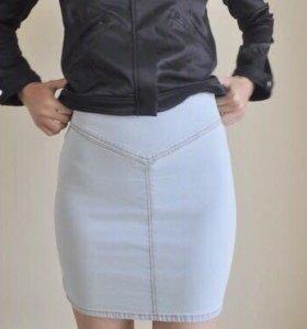 Джинсовая мини юбка hm