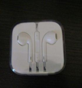 Наушники apple оригинальные. Новые. (Iphone)