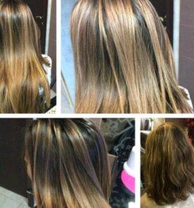 Модное окрашивание волос: омбре шатуш милирование