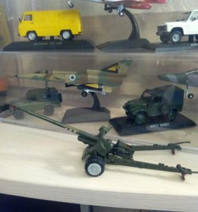 Пушки ВОВ СССР 1:43 металлические