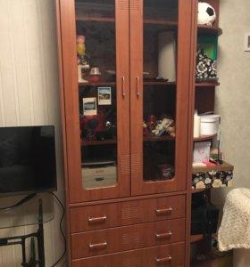 Шкаф для книг с комодом Столплит
