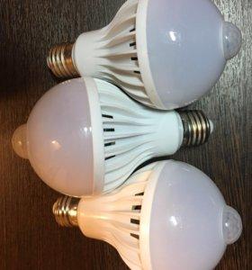 Светодиодные лампочки с датчиком движения и света