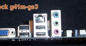 Материнская плата asrock g41m-gs3