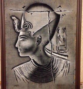 Продам большой папирус в обрамлении