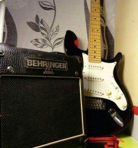 Гитара + комбо-усилитель Behringer