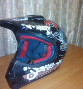 Шлем для мотокросса детский 8-14 лет