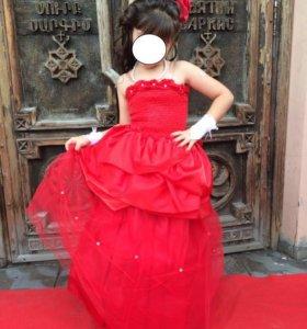 Шикарное красное платье 2 в 1 Роза