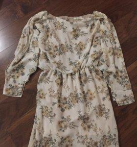Летнее платье-мини из шифона