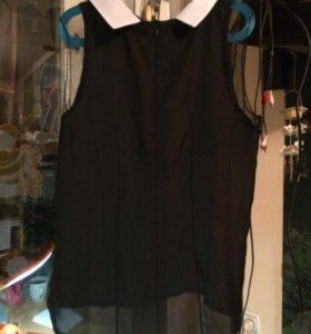 Чёрная блуза без рукава