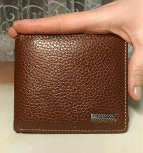 Бумажник кожаный новый