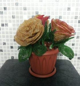 Розы из бисера (на заказ)