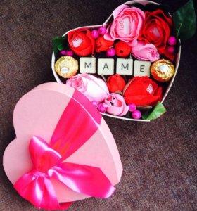 """Коробка """"Сердце для мамы"""""""