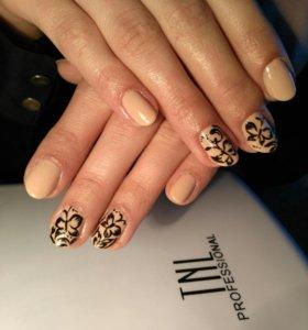 Маникюр+покрытие натуральных ногтей гель-лаком