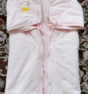 Велюровый Конверт-одеяло Sevi baby