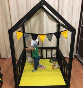 Детский домик-манеж-кроватка