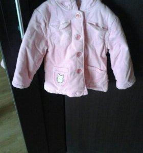Детская утепленная вельветовая курточка
