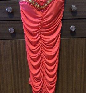 Платье с расшитым лифом