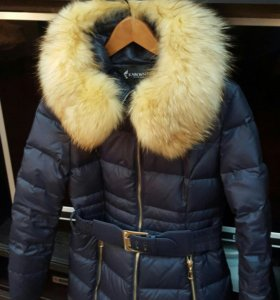 Пуховое пальто (пуховик) 44-46 размера