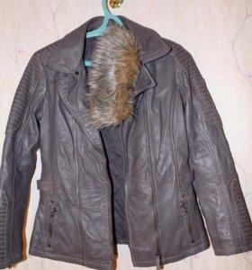 Шикарная кожаная куртка Mauritius, новая