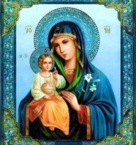 "Картина по номерам ""Икона Божией Матери"""