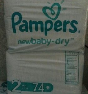 Подгузники Pampers NewBaby-Dry 2 (3-6кг) 72шт