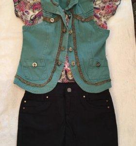 Кофточка,джинсовая юбка,джинсовка