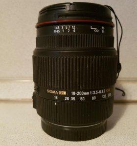 Объектив Sigma AF 18-200 mm F3.5-6.3