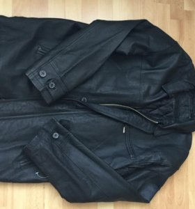 Куртка кожаная. 56-58 размер.