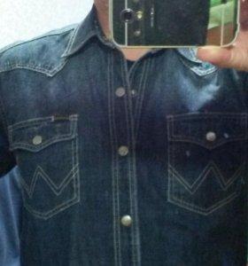 Рубаха джинсовая на кнопках