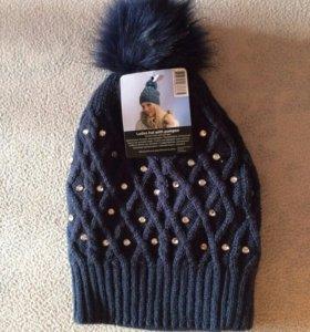 Новая  вязаная шапка