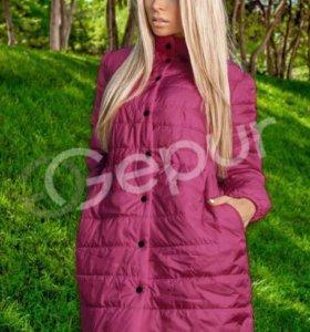 Дутая куртка с бантиком