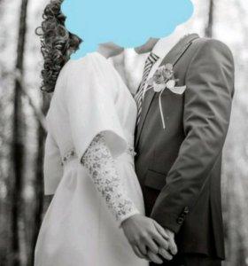 Свадебное пальто от дизайнера, платье. Накидка