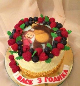 Тортик Маша и медведь