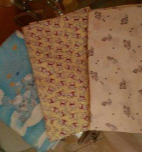 Постельное бельё для кроватки, одеяла и пледы.