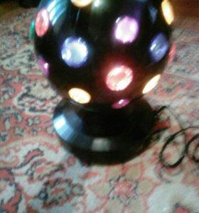 Крутящийся шар- лампа