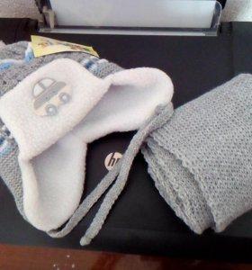 Новый комплект шапка и шарфик