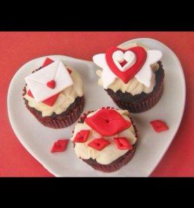 Капкейки на День Святого Валентина ❤️❤️❤️