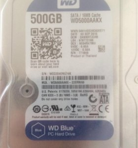 Жёсткий диск hdd 500 gb sata 6gb/s western digital
