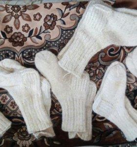 Шерстяные носки (не фабричные)