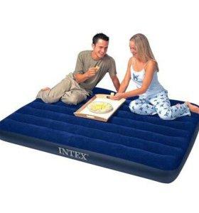 Надувной матрас Двуспальный Intex (темно-синий)