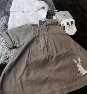 Платье, жилет и колготки next