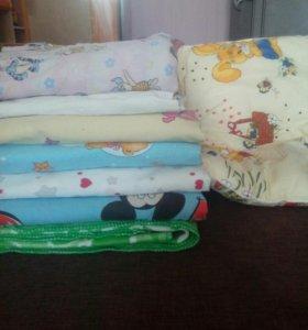 5 комплектов постельного белья+одеяло+подушка