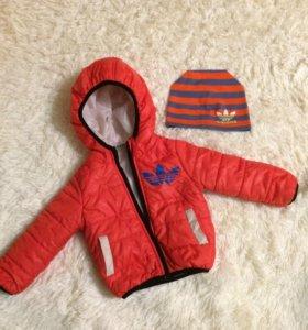 Куртка и шапка Adidas