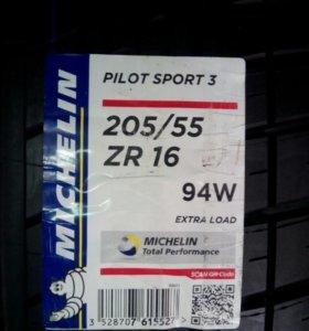 Шины Michelin 205/55R16 pilot sport 3