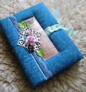 Блокноты ручной работы в мягкой тканевой обложке