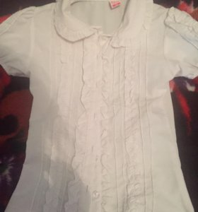 Блузка школьная для девочки. Производство Турция.