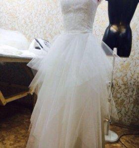Дизайнерское свадебное платье! Единственное!