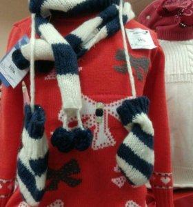 Шапка, шарф, варежки - весна