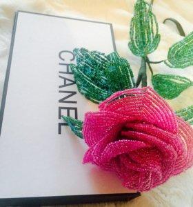 Набор Chanel+ роза из бисера handmade